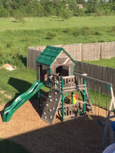Customer Photo Mulch Play Structure