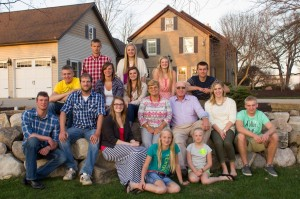 Fred and Ruth Brink with their 14 Grandkids
